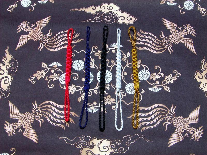武蔵野彫り 木札 正絹手編み江戸組紐