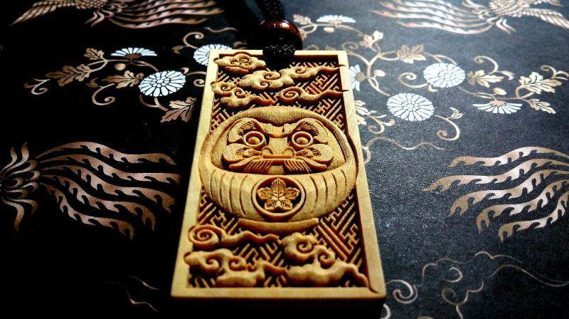 武蔵野彫り だるま お祭り 木札
