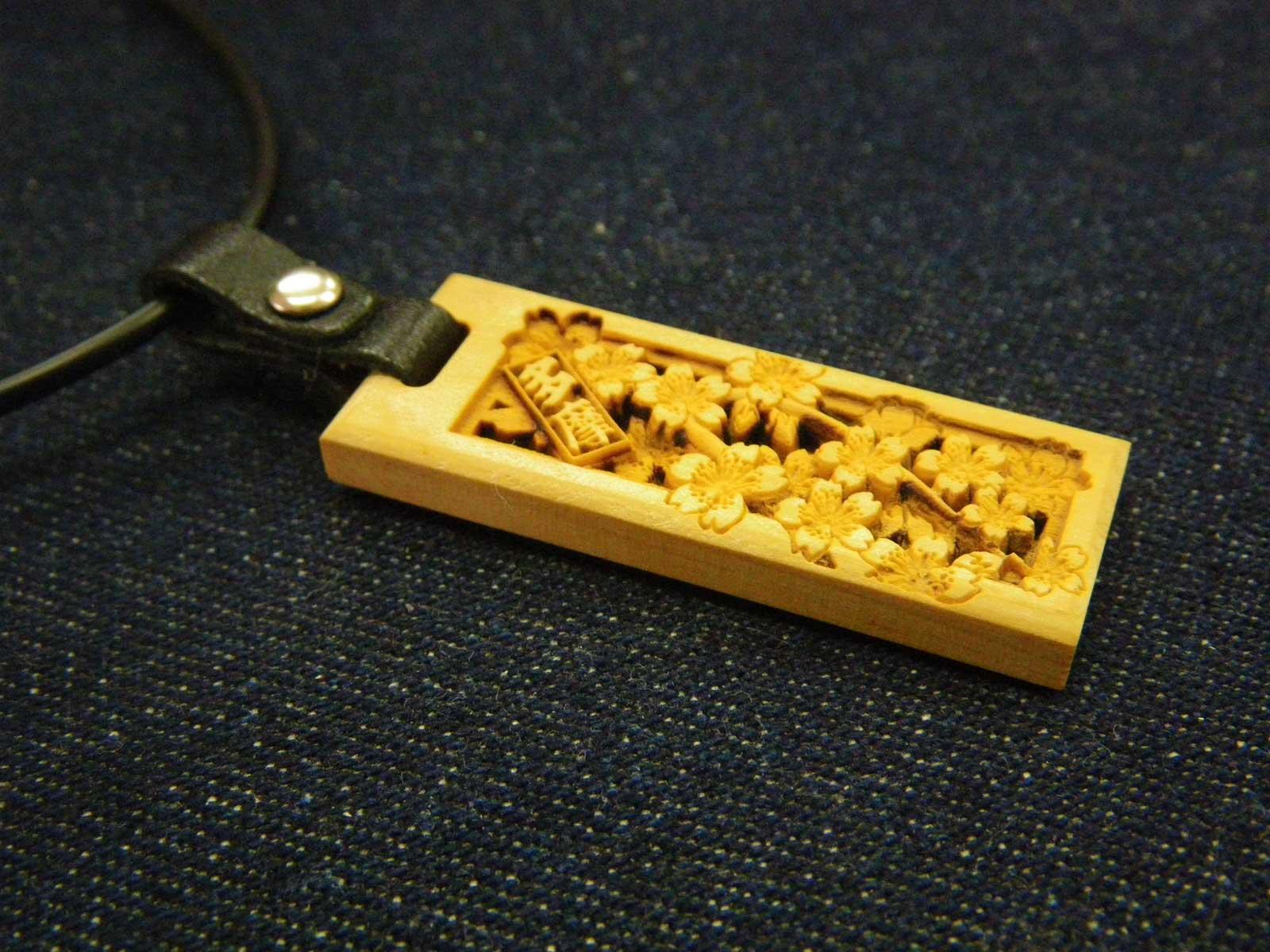 木札 チョーカー 和風 ネックレス