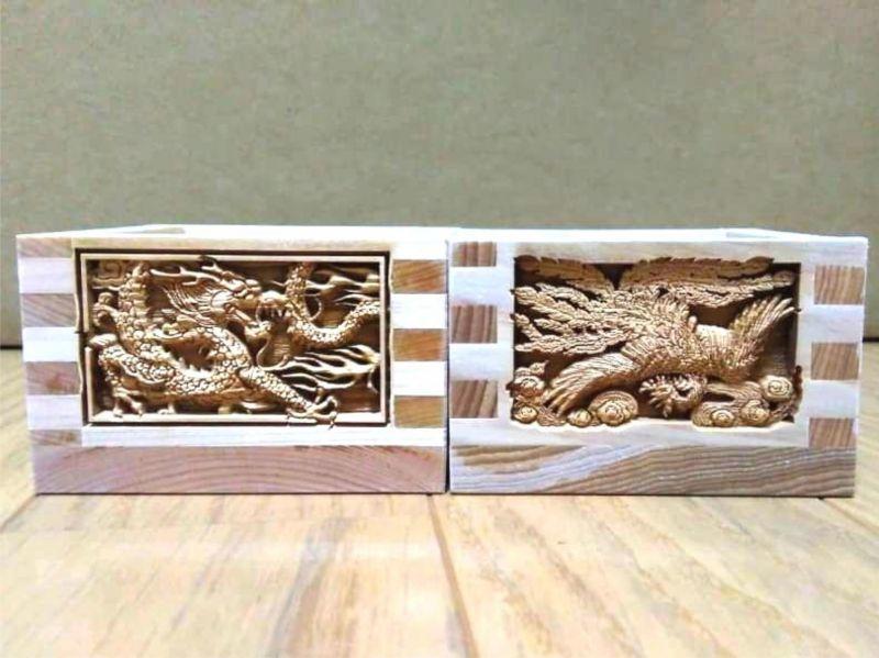 枡 名入れ 彫刻 武蔵野彫り